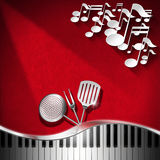 Music and Food - Menu Design Royalty Free Stock Photo