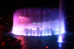Music Fountain. Colorful Music Fountain in Hong Kong royalty free stock photo