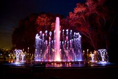 Music fountain Margaret Island Royalty Free Stock Image