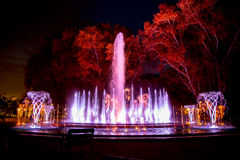 Music fountain Margaret Island Royalty Free Stock Photo