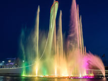 Music fountain in the Olympic Park in Sochi, Russia. Music fountain in the Olympic Park of Winter Games 2014 in Sochi, Russia Stock Photography