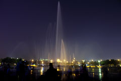 Music fountain at night Stock Photography