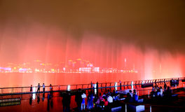 The music fountains at World Expo in Shanghai Royalty Free Stock Photo