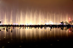 The music fountains at World Expo in Shanghai stock images