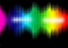 Music frequency equalizer illustration. Colorful intensity level bars. Music frequency equalizer illustration Royalty Free Stock Photography