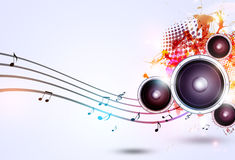 Music Funky Bright Background Stock Photos