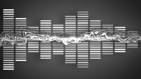 Music funky grey equalizer Stock Images