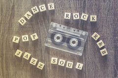 Music genres concept Stock Images