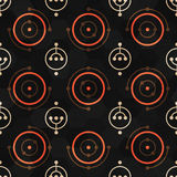 Music geometric seamless pattern. Stock Images