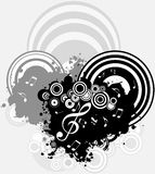 Music - a geometrical abstract background Stock Photography
