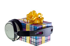 Music gift. Concept isolated on white royalty free stock photography