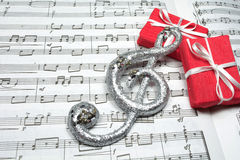 Music and gifts Stock Photography