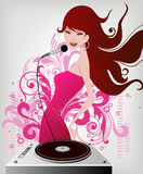 Music girl Stock Photos