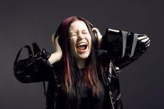Music-girl Royalty Free Stock Photo