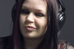Music-girl Stock Photography