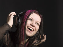 Music-girl Stock Images
