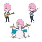 Music girl Stock Image