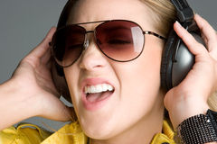 Music Girl Singing Royalty Free Stock Photos