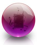 The Music in glass ball. Stock Photos