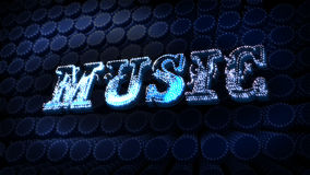 Music Glitz Sparkle Text Stock Images