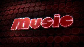 Music Glitz Sparkle Text stock video footage