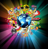 Music GLOBAL Event Background Royalty Free Stock Photography