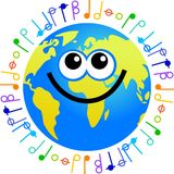 Music globe Royalty Free Stock Photos