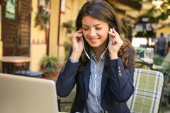 Music is good for business. Business person royalty free stock images
