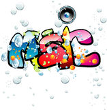 Music graffiti background Royalty Free Stock Photos