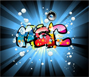 Music graffiti background Stock Photo