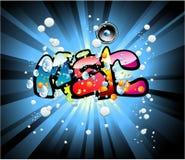 Music graffiti background Stock Photo