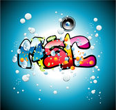 Music graffiti background Royalty Free Stock Image