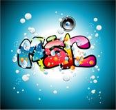 Music graffiti background Royalty Free Stock Image