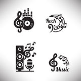 Music graphic elements Stock Images