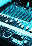 Music Graphic equalizers & mixers for DJ Royalty Free Stock Images