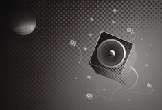 Music gray background Stock Image