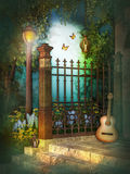 Music in the green Garden Royalty Free Stock Photography