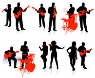 Music group with singers. Image is an original illustration royalty free illustration