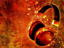Music on grunge background Royalty Free Stock Photos
