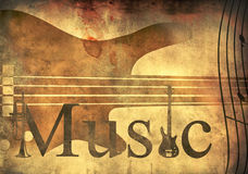 Music grunge background Royalty Free Stock Images