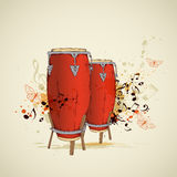 Red drums and notes Stock Photography