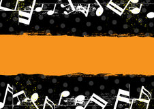 Music grunge banner design Stock Photography