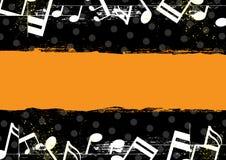 Music grunge banner design Stock Photography