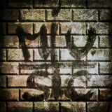 Music grunge brick wall background Stock Photography