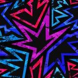 Music grunge geometric seamless pattern Royalty Free Stock Images