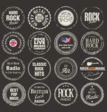 Music grunge rubber stamps Royalty Free Stock Photography