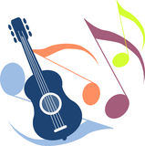 Music and guitar Royalty Free Stock Photography