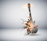 Music Guitar explisive background Stock Photography