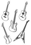 Music guitars Stock Image
