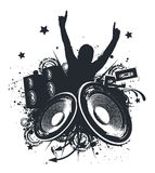 Music Hands Up. Vector Illustration Stock Image